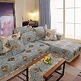 ZQCM Protector Antideslizante para Muebles, cojín de Tela Pastoral para sofá, Funda de Almohada con Respaldo de Chaise Longue, Funda para sofá, Blue, 50 * 50cm(19 * 19inch)