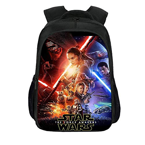 Star Wars Casual Backpack Large Capacity Schoolbag Waterproof Daypack Lightening Backpack for Boys and Girls for Boy and Girl (Color : A01, Size : 27 X 17 X 40cm)