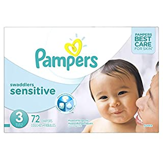 Diapers Size 3 - Pampers Swaddlers SENSITIVE Disposable Baby Diapers, 72 Count, Super Pack (B00IZUMQ4U)   Amazon price tracker / tracking, Amazon price history charts, Amazon price watches, Amazon price drop alerts