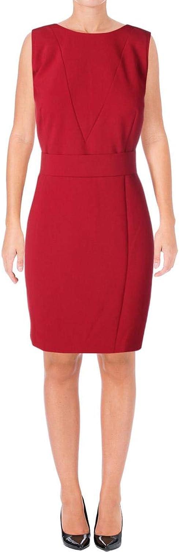 Hugo Boss BOSS Womens Dirasana Woven Sleeveless Wear to Work Dress