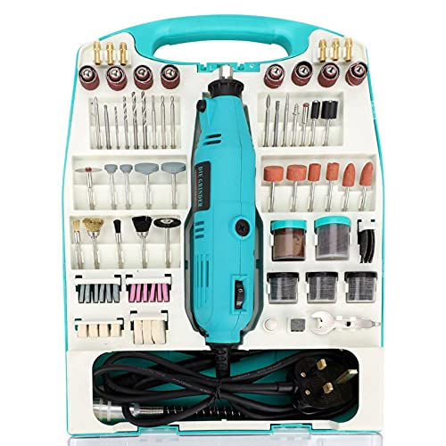 Queiting 234 Pcs Set Rotary Multi-Function Tool Multi-Function Tool Kit Hand Drill For Sand Mill Polishing Machine Diy Cut Woodworking And Hobby Crafts