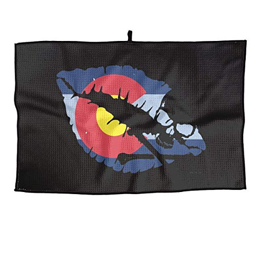 JBNTJDG Toalla de Golf Colorado Kiss Toalla Deportiva 23 x 15 Pulgadas Toalla de Jugador de Gimnasio