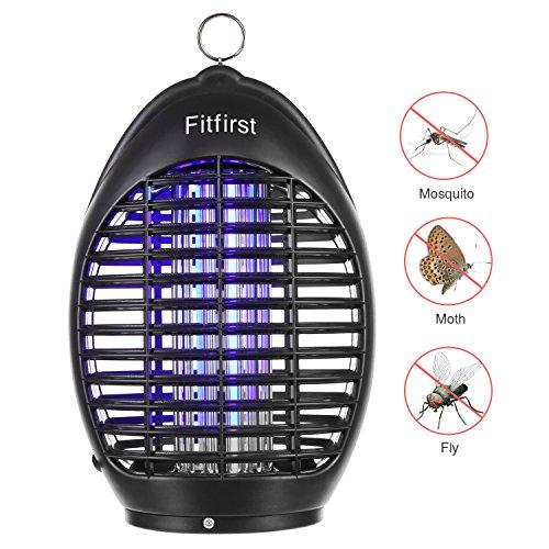 Fitfirst Lampe électrique 360 ° UV, Catcher, écologique et sûre, convient pour maison, bureau, patio, cuisine, blanc