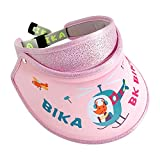 JINTN Sombrero de visera para bebé, para el sol, para exteriores, para playa, tenis, golf, verano, transpirable, visera ajustable Rosa. Talla única