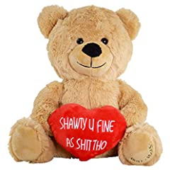 This bear just wants to holla with a ghetto message Will make your intentions clear, no more friendzone Very soft high quality material (think fleece blanket), not a crappy toy from the corner store Absolutely adorable little smile Fast delivery, eve...