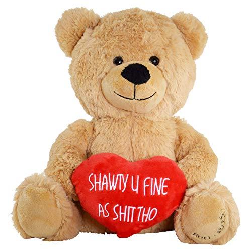 Hollabears Shawty U Fine Teddy Bear - Funny Plush for The Girlfriend, Boyfriend or Best Friend