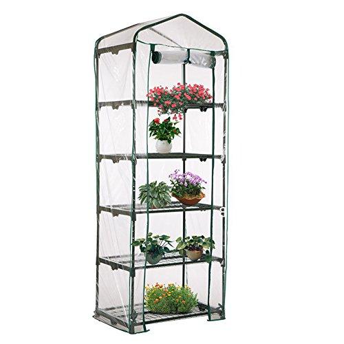 TE Hot Five Floors Mini serre de jardin en PVC Vert 187 x 69 x 49 cm
