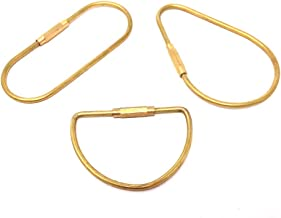 Honbay 3pcs Different Shape Brass Key Ring Key Holder