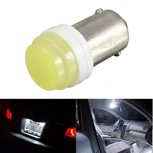 ILS BA9S Ceramic COB LED T4W Car Auto License Plate Lamp Reading Lamp DC 12V