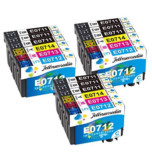T0715 XL Cartuchos de tinta de repuesto para Epson T0711 T0712 T0713 T0714 T0715 Trabaja con Epson Stylus SX100 SX218 SX415 SX515W SX200 DX4000 DX4050 DX7450 DX8450(18 Pack)