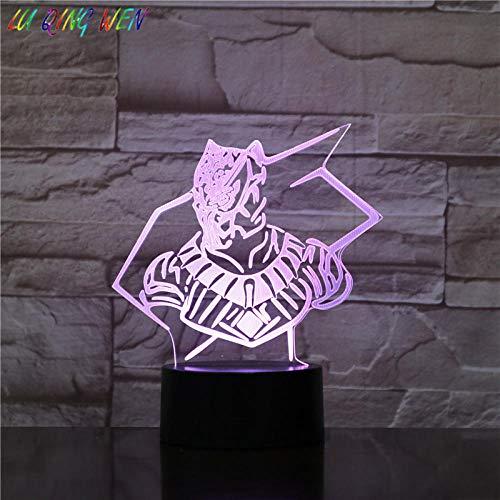 Lampe Illusion 3D Led Veilleuse Marvel Comics Panthère Noire Garçon Enfant Cadeau D'anniversaire 7 Changement de Couleur Chambre Décor Lampe De Table