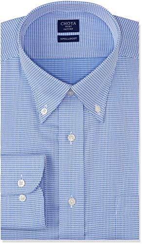 [チョーヤ] CHOYA SHIRT FACTORY 長袖メンズワイシャツ アポロコット CFD824 455-ボタンダウン 日本 3778 (日本サイズS相当)