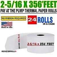 RegisterRoll社製 2-5/16 x 356 ガソリンスタンドロール 24個