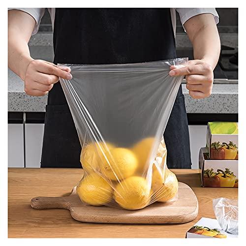 XYSQ Fresh Keeping Bags 100pcs, Bolsas De Pastel De Bolsas Claras, Cubiertas De Alimentos Reutilizables, Bolsas De Mantenimiento Fresco para Fiesta, Dulces, Galletas, Paletas, Cupcakes, Regalos