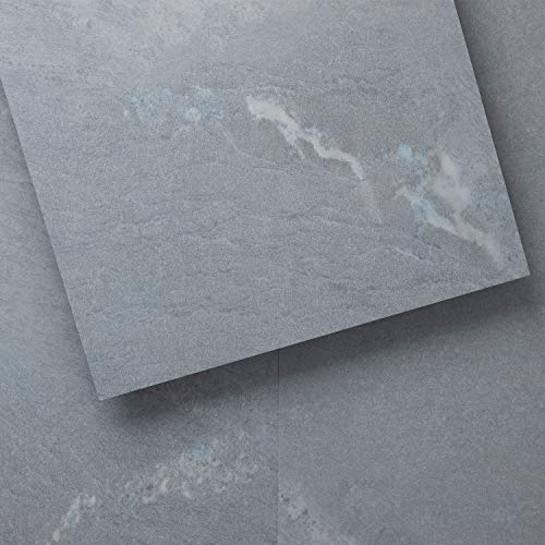 Luxury Vinyl Floor Tiles by Lucida USA | Glue-Down Adhesive Flooring for DIY Installation | 18 Stone-Look Planks | GlueCore | 36 Sq. Feet