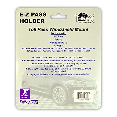 EZ Pass Holder AutoBoxClub Clear 2 Pack IPass Holder//Toll Pass Holder for Most US States//Toll Pass Windshield Mount//Easy to Install and Remove//with 4pcs Toll Pass Mounting Strips//UV-Protective