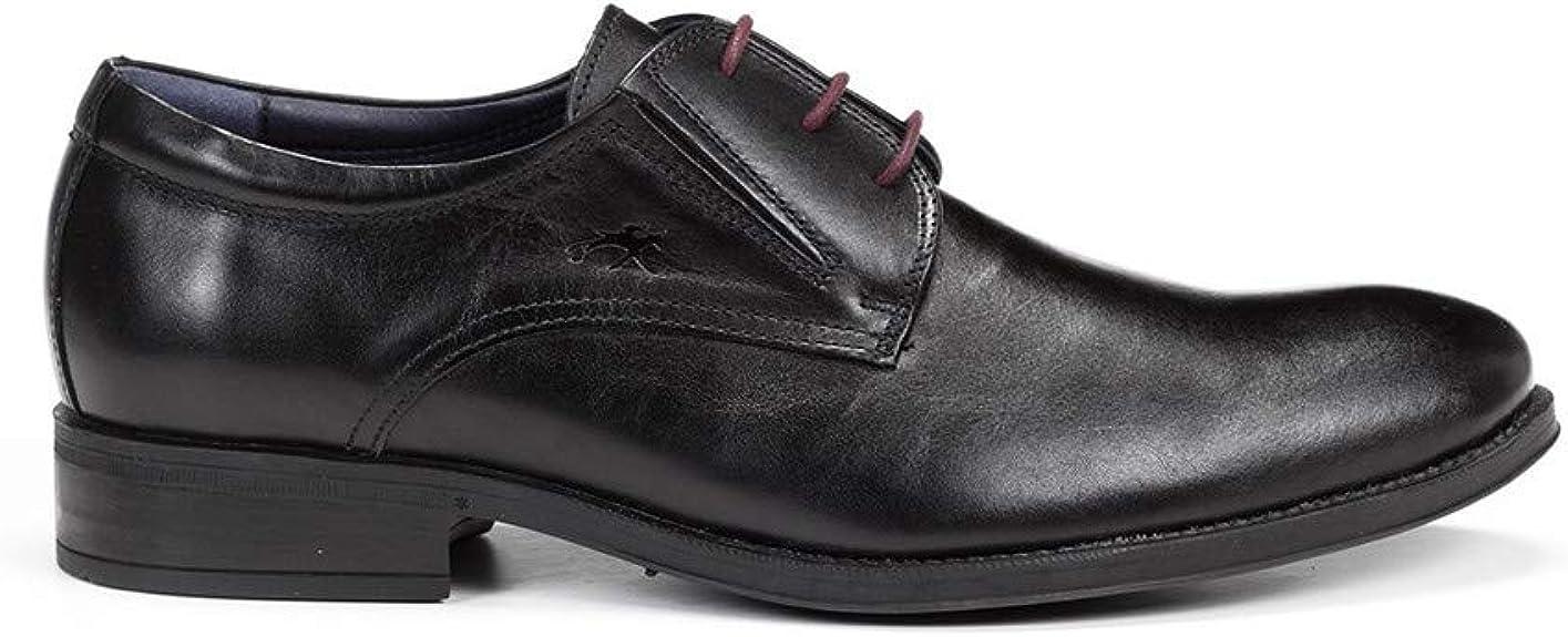 Fluchos | Zapato de Hombre | HERACLES 8410 Memory Negro Zapato de Vestir | Zapato de Piel de Vacuno de Primera Calidad | Cierre con Cordones | Piso de Goma Personalizado