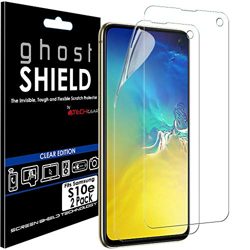 TECHGEAR [Pack van 2] Screen Protectors fit Samsung Galaxy S10e [ghostSHIELD Edition] Versterkte TPU film Screen Protector Guard Covers [FULL Screen Coverage] Gebogen scherm (Niet voor S10, S10+)