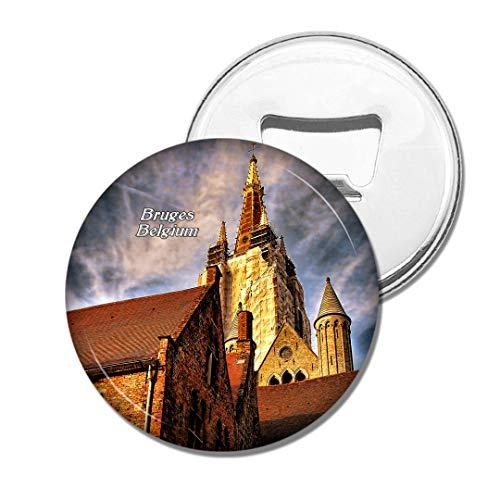 Weekino Belgien Kathedrale Brügge Bier Flaschenöffner Kühlschrank Magnet Metall Souvenir Reise Gift