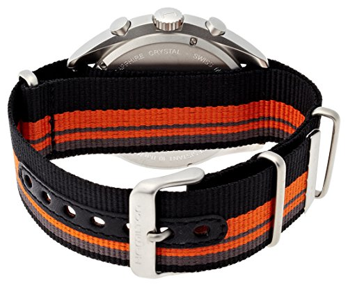 Hamilton Homme Analogique Quartz Montre avec Bracelet en Tissu H76552933