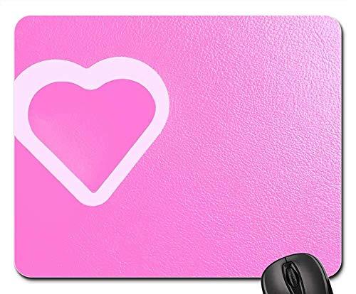 Mousepads - Herz rosa Valentinstag Romantik Karte 25x30cm