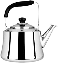 Kettle Camping, 304 Stainless Steel Water Gas Induction Cooker Gas Coffee Home Kitchen Infusion Goose Neck Teapot 3L Home ...