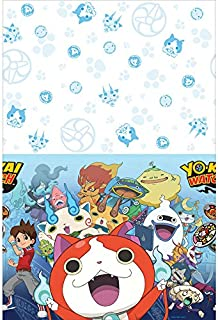amscan Yo-Kai Watch Plastic Table Cover, Party Favor