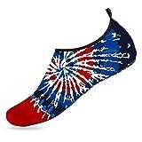 Classic Tie-Dye Graphic Aqua Socks Beach Water Shoes Barefoot Quick-Dry Aqua Yoga Socks for Women Men Outdoor Beach 12-13 M US Women / 10-10.5 M US Men