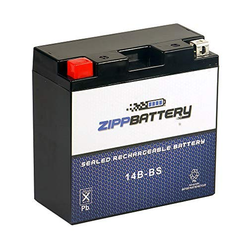 Rechargeable YT14B-BS AGM Powersport Battery- Replaces YT14B-BS,...