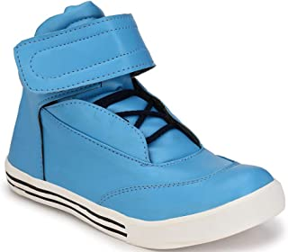 REAL BLUE Men's Synthetic Leather Ankel Lace ups Casaul Sneakers