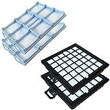 Staubbeutel24 Set 2 HEPA Filter + 2 Motorfilter geeignet Für Bosch BSG81466 / BSG 81466, BSG8. Serie, Series