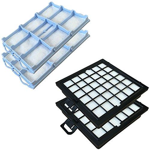 PakTrade Set - 2X HEPA Filter + 2X Motorfilter geeignet Für Bosch BSG81666/10, BSG81466/09/14