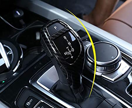 Eiseng Carbon Fiber Gear Shift Knob Panel Trim Sticker for BMW 3 Series F30 F34 3GT 328i 330i 340i Gran Turismo Interior Accessories