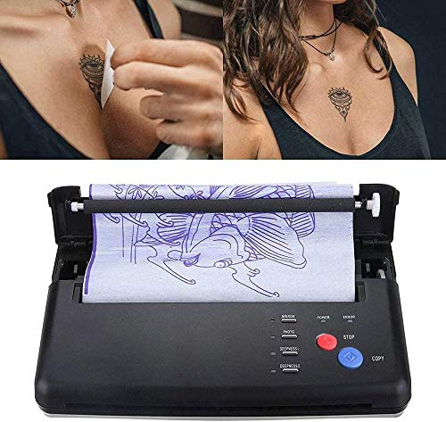 Tatouage Transfert Machine Portable A5 A4 Papier Thermique Copieur Tatouage Pochoir Transfert Copieur Thermoprinter Kit De Tatouage Tatouage Transfert Machine