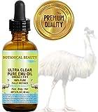 Botanical Beauty - Aceite de Emu Puro Ultra Claro 100% Puro. 60ml. Completamente Refinado/Dorado para Rostro, Cuerpo, Labios