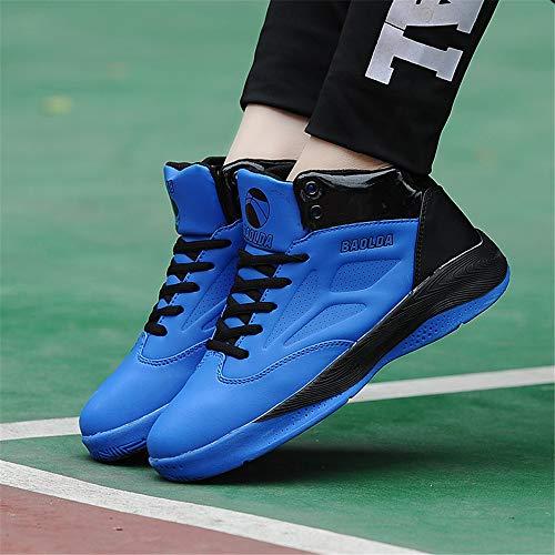FJJLOVE Zapatos De Baloncesto Unisex, Transpirable Zapatos Corrientes Atléticos De La Zapatilla De Deporte Casuales De Baloncesto Entrenadores Lighweight para Niños Niñas,Azul,42