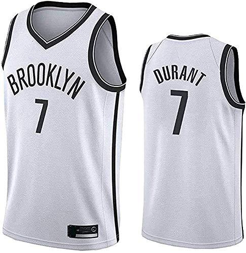 7# Durant Jersey Nets Kevin Basic Edition Swingman Summer Jerseys Shirt Sportswear Tank Top TrainingSuit,White,Small