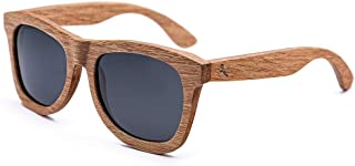 Tayope Wooden Sunglasses for Men Women Polarized UV400 Shades in Engraved Wood Box -that Floats (grey)