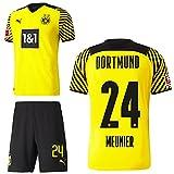 PUMA Borussia Dortmund BVB Heimset 2021 2022 Home Kit Sponsor BL Logo Kinder Thomas Meunier 24 Gr 128