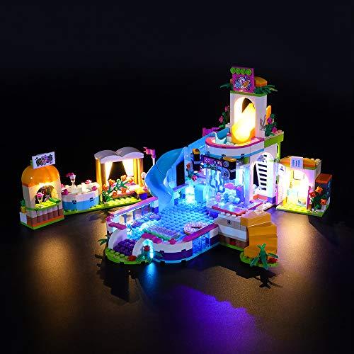 LIGHTAILING Conjunto de Luces (Friends Piscina de Verano de Heartlake) Modelo de Construcción de Bloques - Kit de luz LED Compatible con Lego 41313 (NO Incluido en el Modelo)