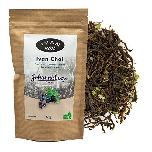 Ivan Chai - Johannisbeere | Entspannungstee | Fermentierter Weidenröschen Tee Lose | Premium Qualität |Wild & Handverarbeitet