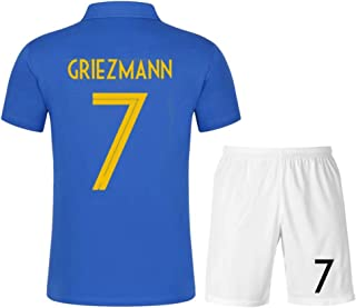 Wusfeng France National Team Men's Football Jerseys Set Football Uniform Home Kit T-Shirt Soccer Suit World Cup Football Clothing Top Blue