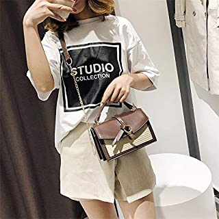 Fashion Single-Shoulder Bags Leisure Fashion PU Leather Slant Shoulder Bag Handbag (Coffee) (Color : Coffee)
