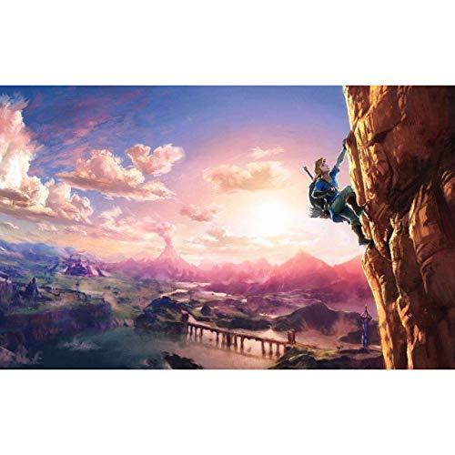 FENGZI Jigsaw The Legend of Zelda: Breath of Wild Offizielle Figur Rätsel Erwachsene und Kinder Puzzle 300/500/1000/1500 Stück (kundengerecht) (Size : 500Pieces)
