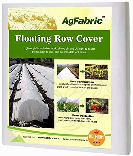 Agfabric Frost Blankets for Plants 10Ftx50Ft 1.2oz Floating Row Cover Garden Plant Cover Freeze...