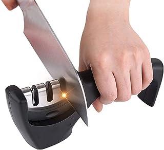 Afilador de cuchillos profesional de acero inoxidable de cerámica para afilar cuchillos de piedra de tungsteno de acero afilador de diamante herramienta de cocina