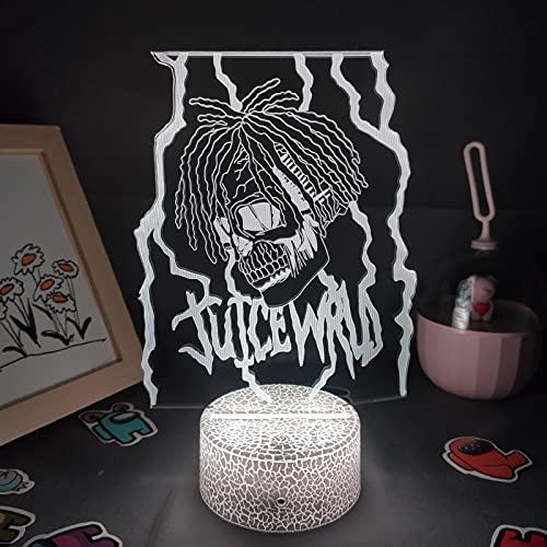 Luz de noche LED 3D - Hip Hop Lava Lamp Singer Celebrity Souvenir LED RGB Luz de noche Regalo conmemorativo para un amigo Dormitorio Decoración ( Color : 7 color no remote , Size : Lava Lamp Base )