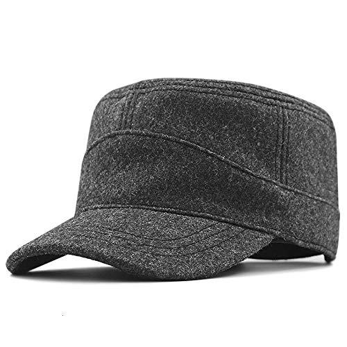 Gorras De Hombre Sombrero Sombrero De Invierno Plano para Hombre, Gorra Militar...