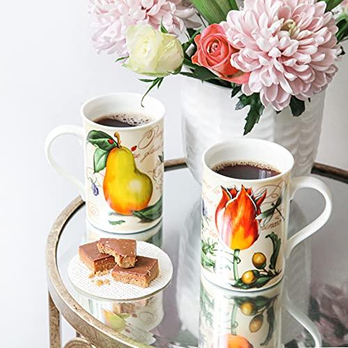 Crown Trent Tulip Mugs Set of 6, us:one Size, Multi-Colour