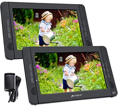"Pumpkin DVD Portatil Coche 2 Pantallas 10.1"" Reproductor para Reposacabezas con Cargador de coche, Soporta SD/ USB/ CD Multiregiones"